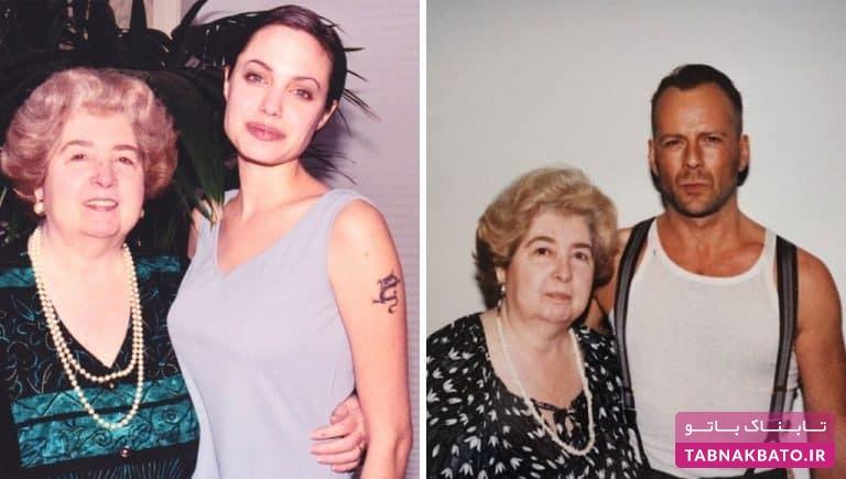 چگونه زن ناشناس با همه سلبریتیهای هالیوود عکس گرفت؟