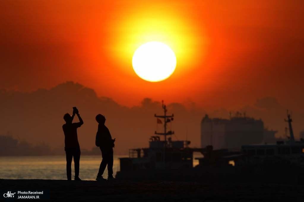 طلوع زیبای آفتاب در سنگاپور + عکس