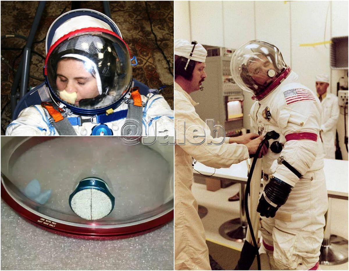 راهکار فضانوردان برای خاراندن بینی شان + عکس