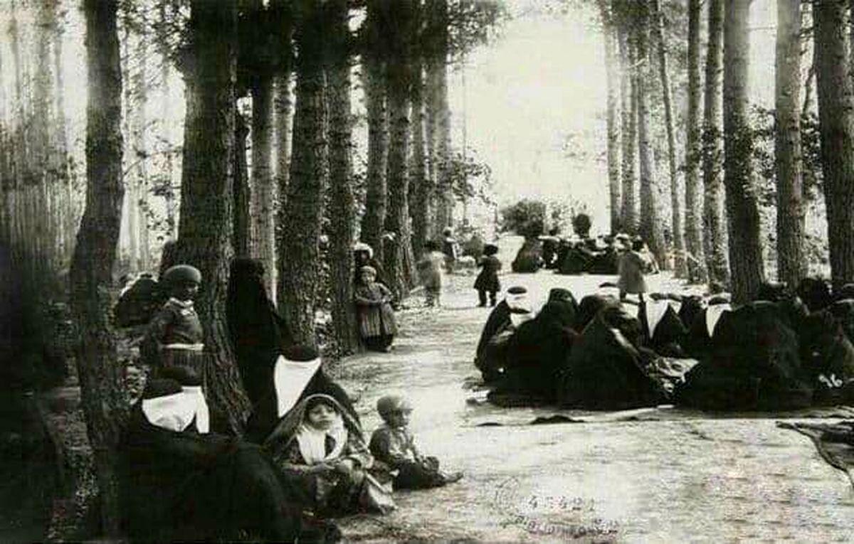 سیزده بدر در دوره قاجار +عکس