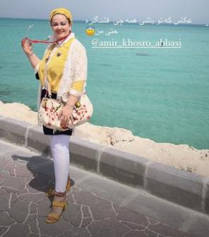 تفریح بهاره رهنما در جزیره کیش با تیپی خاص+عکس