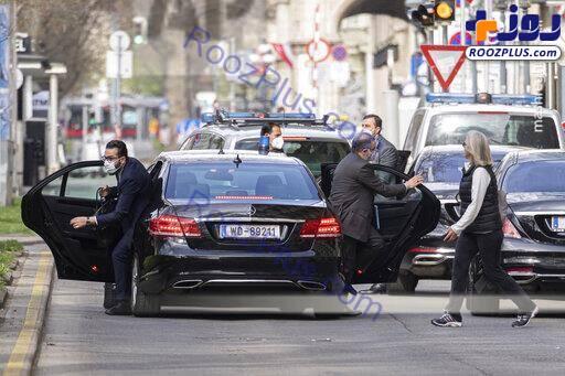خودروی حامل تیم مذاکره کننده ایرانی در وین
