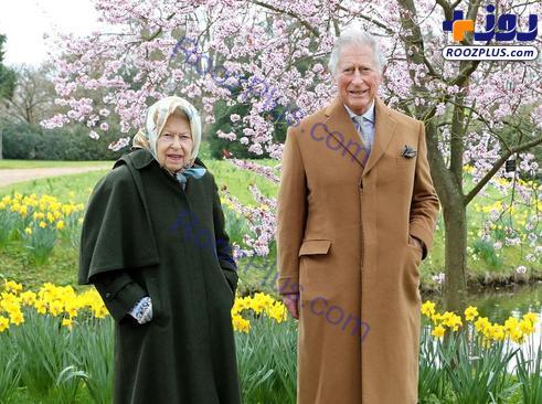 عکس جدید ملکه بریتانیا با ولیعهد
