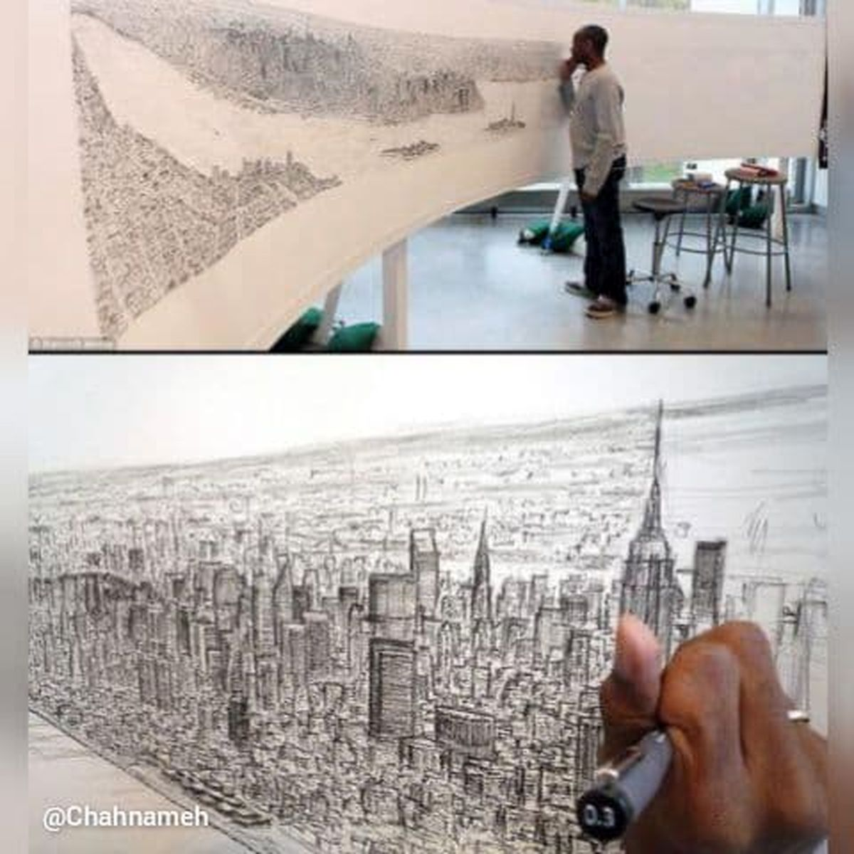 نقاشی حیرات انگیز فرد مبتلا به اوتیسم +عکس