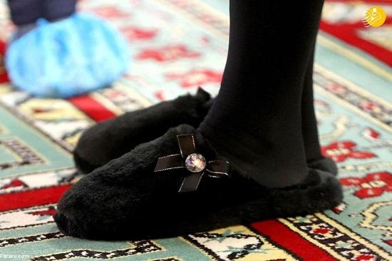 حجاب همسر ولیعهد انگلیس در مسجد