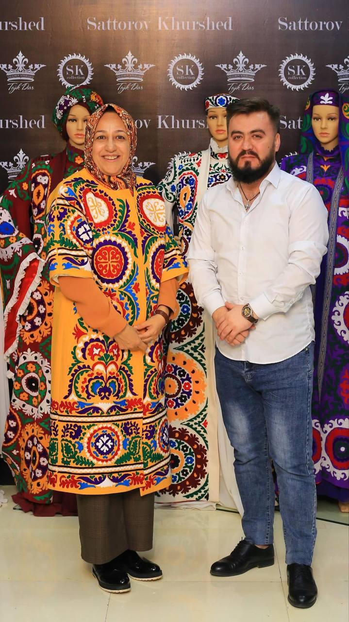 لباس همسر ظریف در تاجیکستان + عکس