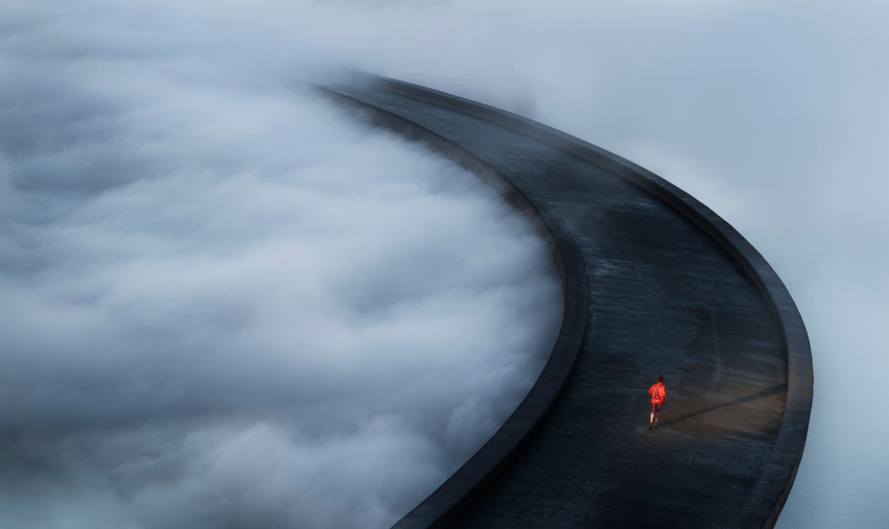 دویدن در میان ابرها + عکس