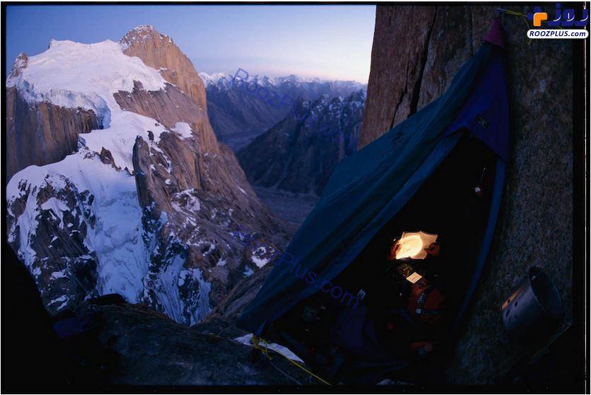 اردوگاه معلق در کوههای پاکستان +عکس