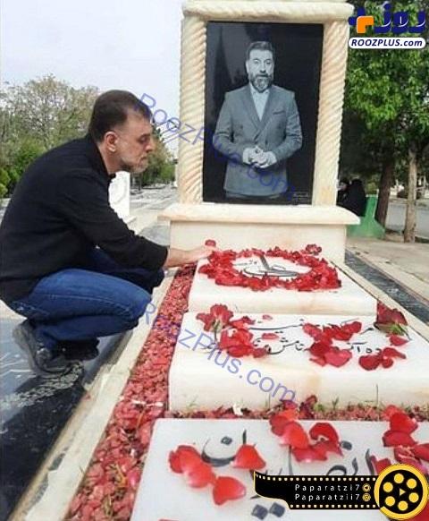 حال و روز برادر علی انصاریان در کنار مزار این فوتبالیست