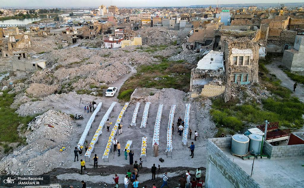 سفره افطار در موصل عراق + عکس