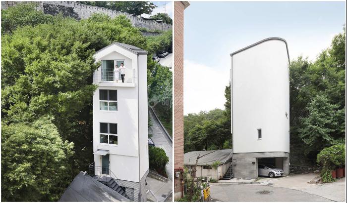 چگونه یک معمار کره ای موفق به ساخت خانه ای ۵ طبقه در قطعه زمین مینیاتوری شد
