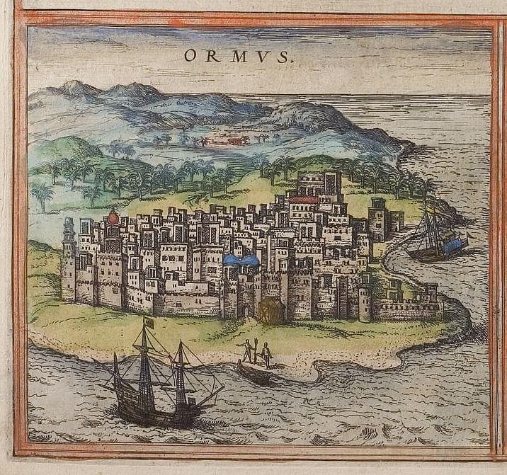 نقشه قدیمی جزیره هرمز در زمان اشغال توسط پرتغالیها + عکس