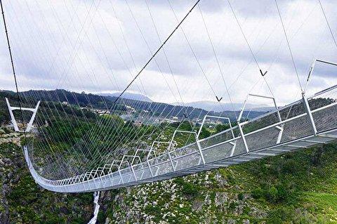 حیرتانگیزترین و طولانیترین پل عابر معلق جهان در پرتغال