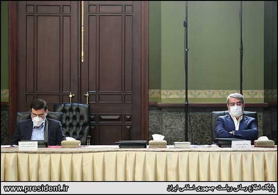 حضور عمومی وزیر کشور پس از رهایی از کرونا