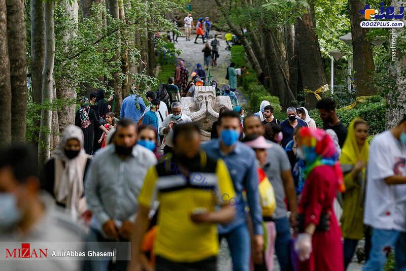 شلوغی پارک جمشیدیه در بحران کرونا+عکس