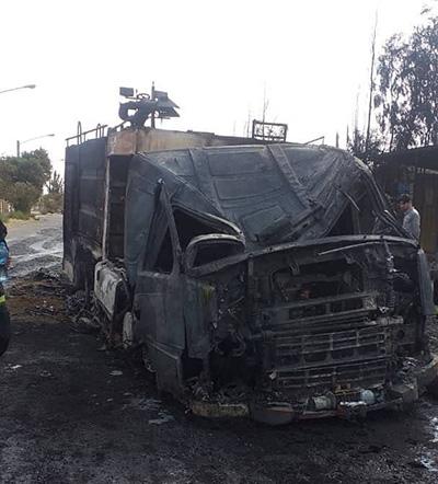 خودروی چند میلیاردی آتشنشانی در آتش سوخت