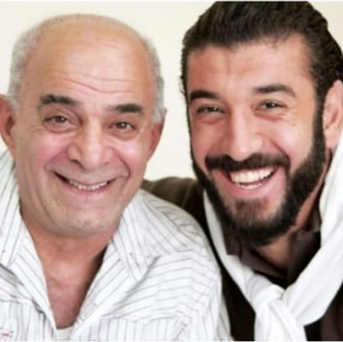 عکسی متفاوت از مرحوم سیروس گرجستانی و علی انصاریان
