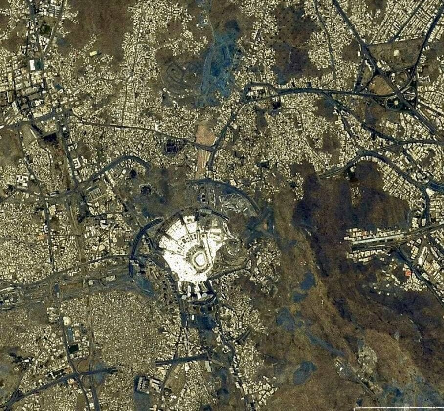تصویر فضانورد ژاپنی از مکه مکرمه و مسجدالحرام