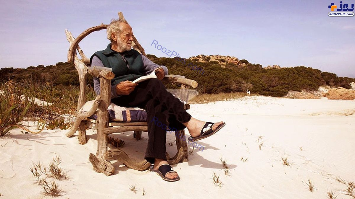 مردی که ۳۱ سال است به تنهایی در یک جزیره زندگی می کند +عکس