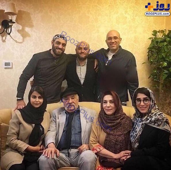 بازیگر سریال یاور به همراه همسر، عروس و فرزندان +عکس