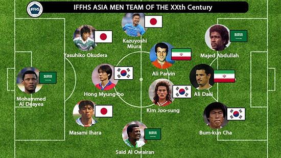 پروین و دایی در تیم منتخب قرن ۲۰ فوتبال آسیا