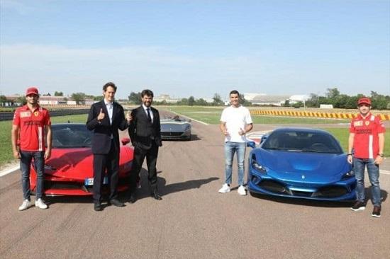 رونالدو و راننده مشهور در کنار فراریِ لاکچری