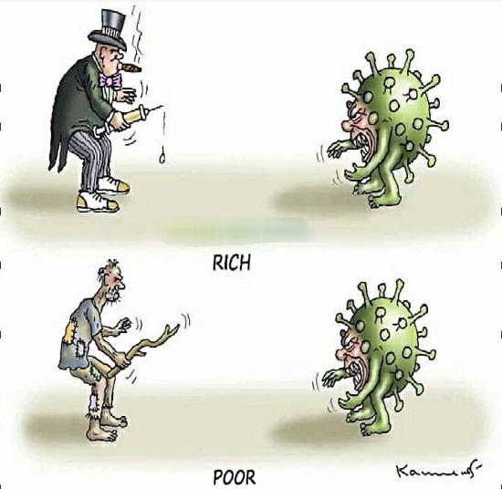 تفاوت مبارزه فقرا و ثروتمندان با کرونا را ببینید