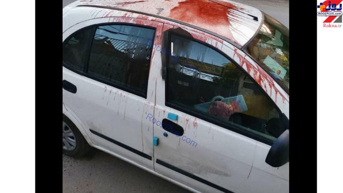 اسید پاشی در بیمارستان همدان +عکس