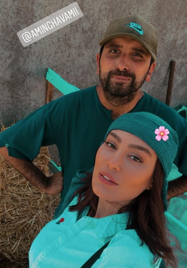سحر قریشی و کارگردان معروف در کیش + عکس