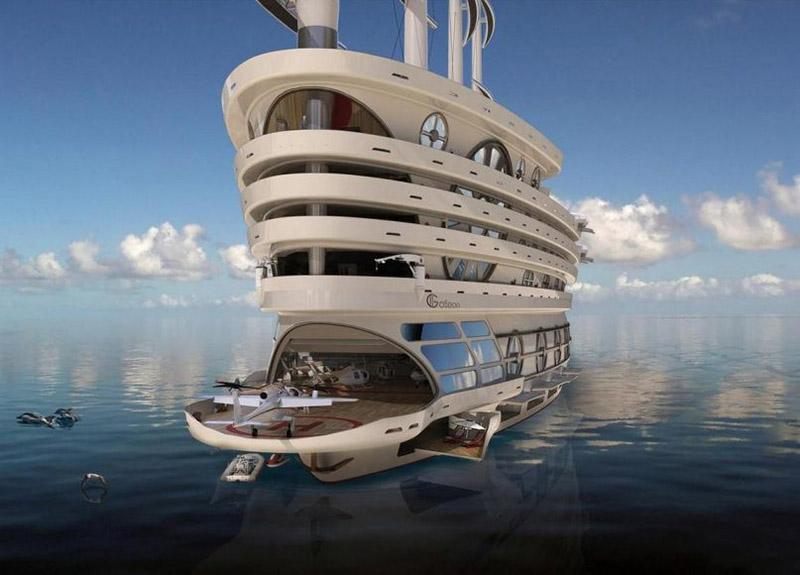 طراحی ابر قایق تفریحی یا مگایات لوکس