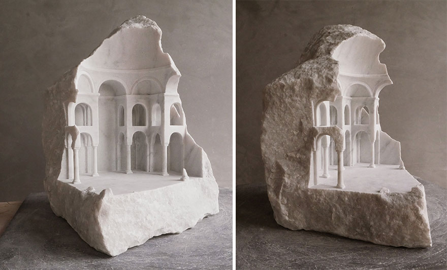 بناهای مینیاتوری که این هنرمند انگلیسی از سنگ تراشیده است