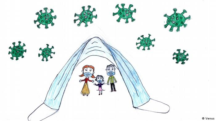 کرونا از نگاه کودکان دنیا در مسابقه نقاشی دویچه وله