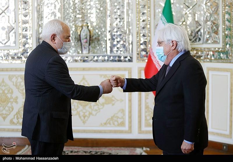 سلام کرونایی ظریف با نماینده ویژه دبیرکل سازمان ملل + عکس