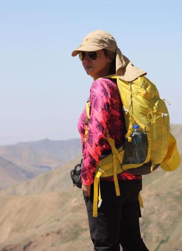 استایل کوهنوردی آنا نعمتی + عکس