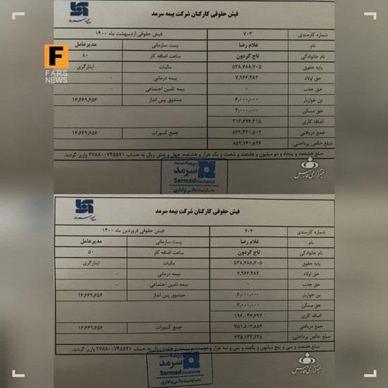حقوق ۸۵میلیونی تاجگردون در پست جدید+عکس