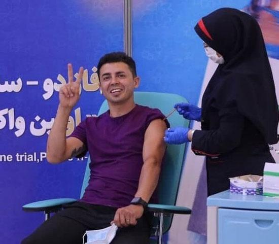 یک استقلالی، واکسن ایرانی دریافت کرد