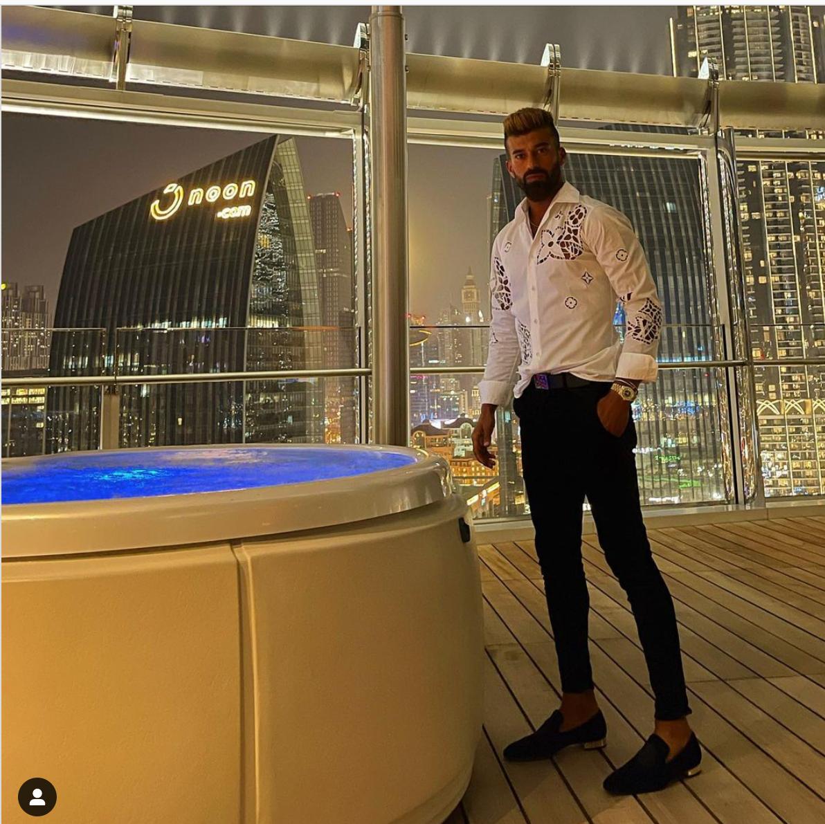 رامین رضاییان در لاکچری ترین برج جهان+عکس