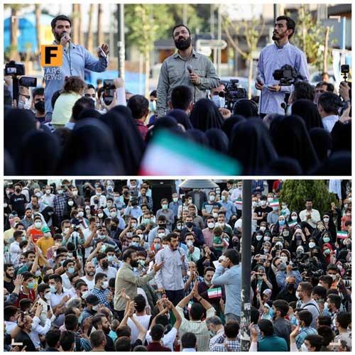 کارناوال انتخاباتیِ برخی مداحان در تهران