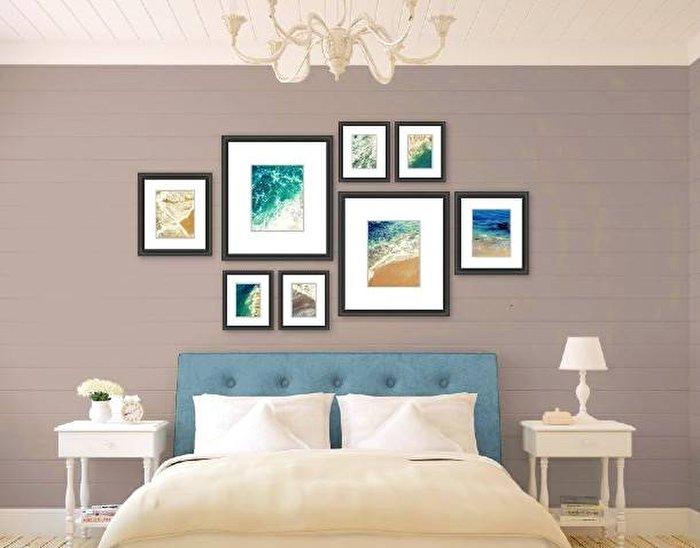 بهترین شکل چیدن قاب عکس روی دیوار خانه