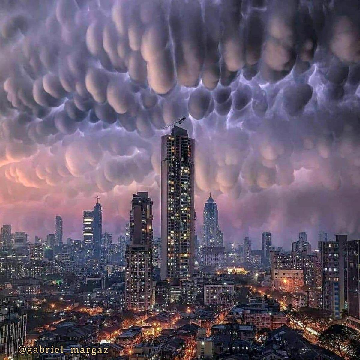 تصویری هولناک از ابرها که ماماتوس نام دارد