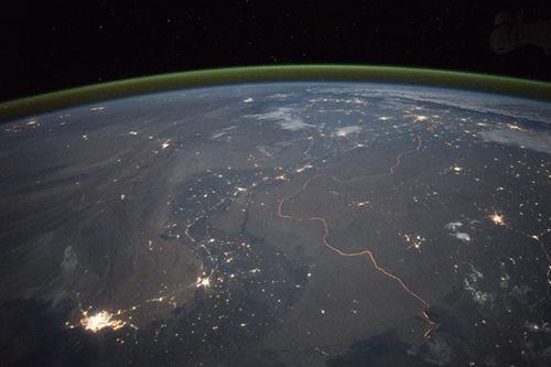 مرز هند و پاکستان از ایستگاه فضایی