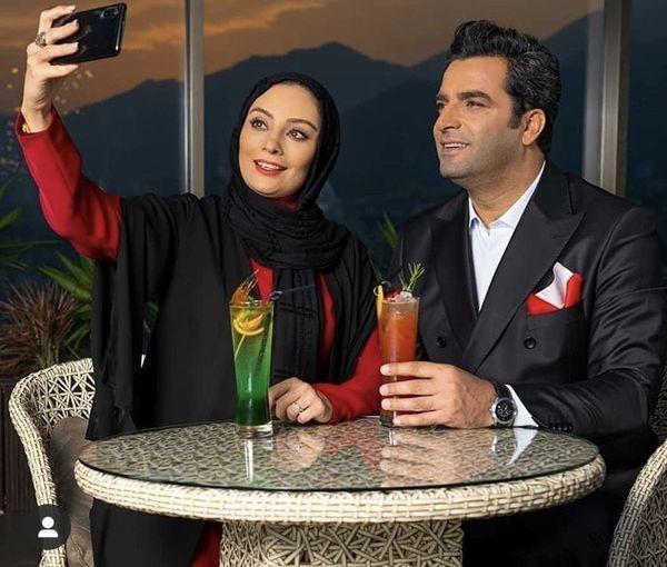 ست جذاب یکتا ناصر و همسرش +عکس