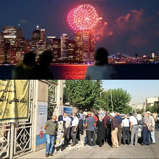 دو تصویر با ۱۸۰درجه تفاوت از تهران تا نیویورک