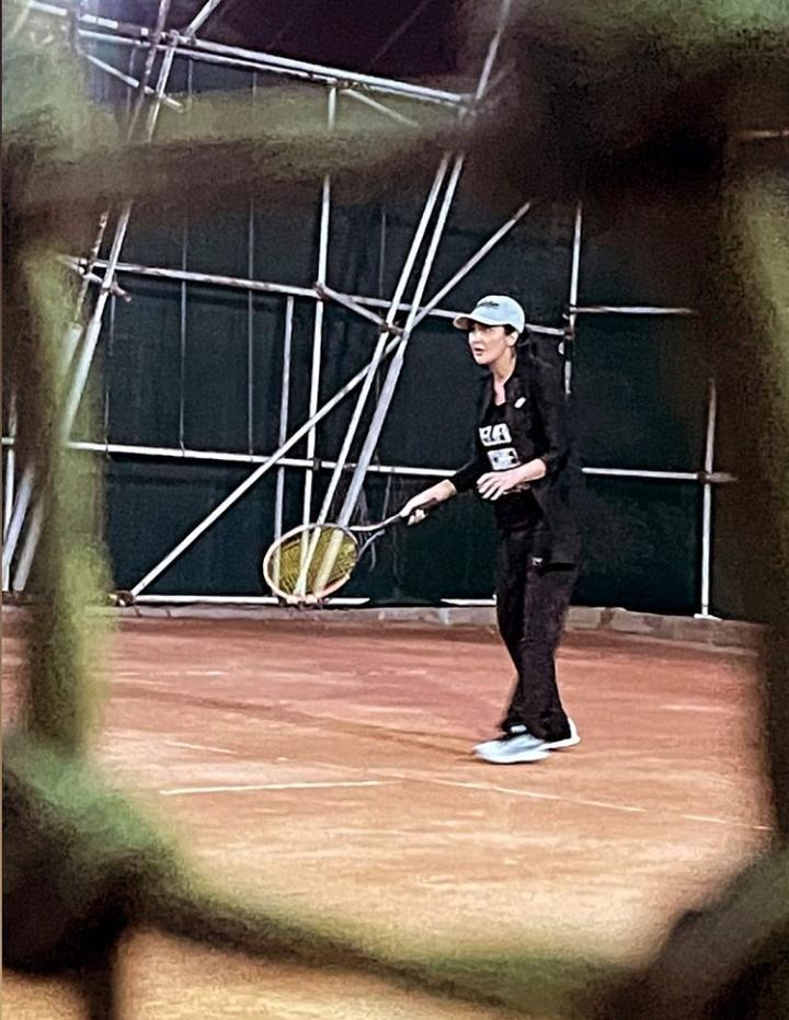 مریم معصومی در حال تنیس بازی کردن + عکس