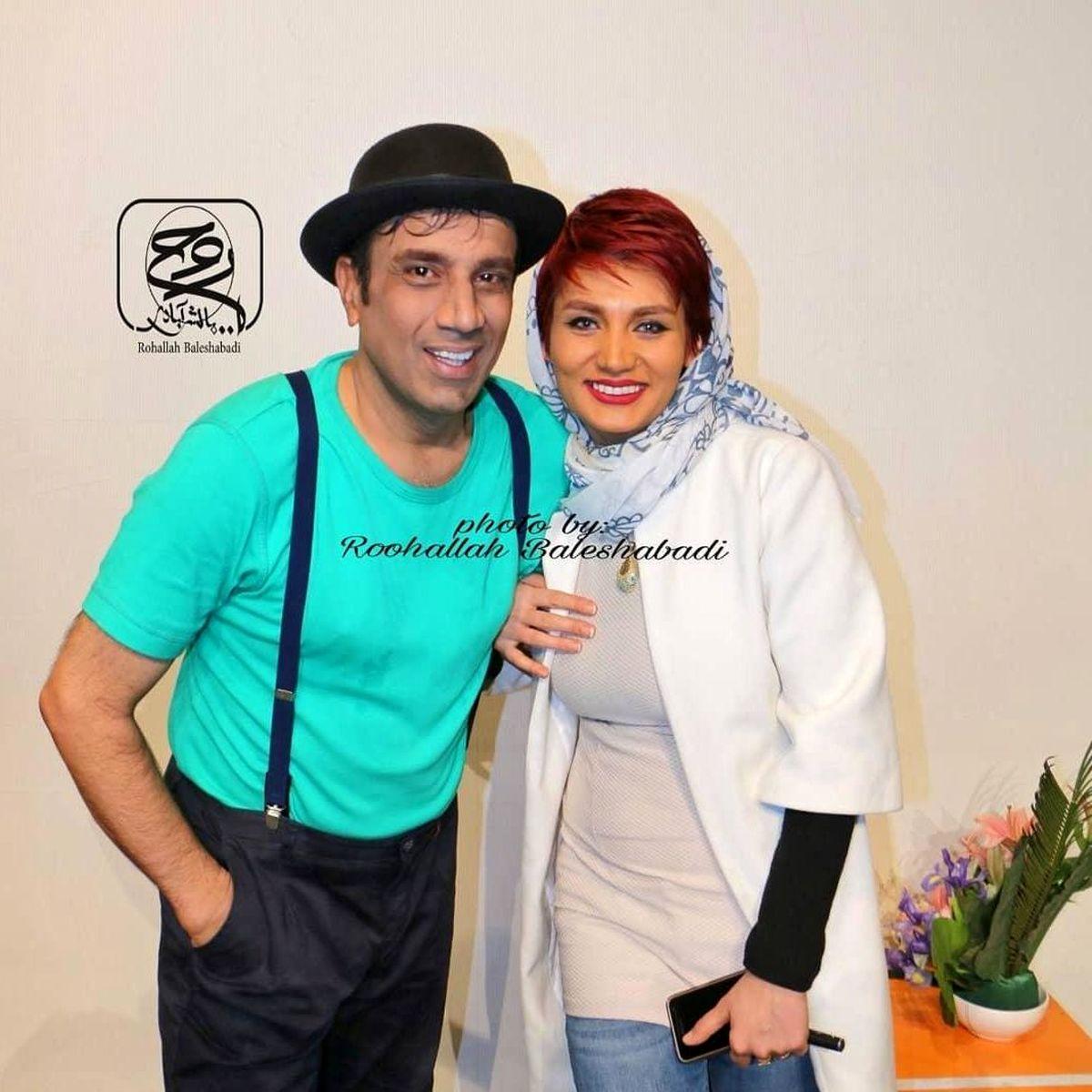 نصرالله رادش در کنار همسرش + عکس