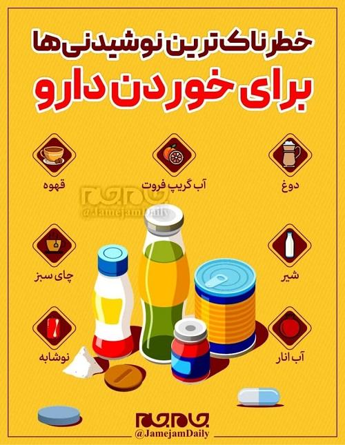 خطرناکترین نوشیدنیها برای خوردن دارو کدامند؟