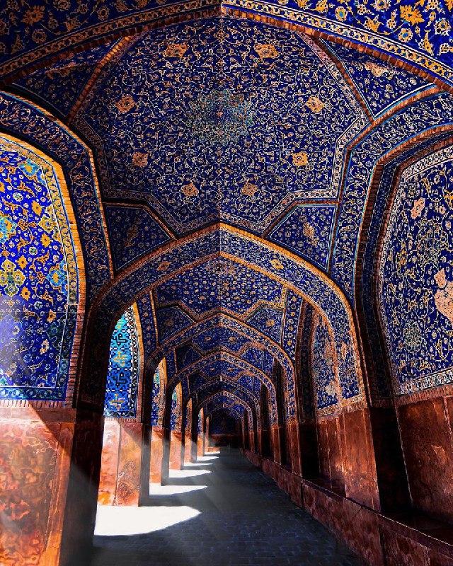 شاهکار معماری در مسجد جامع عباسی اصفهان + عکس