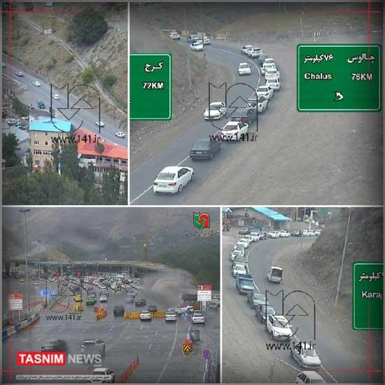 ترافیک سنگین در جادههای کشور