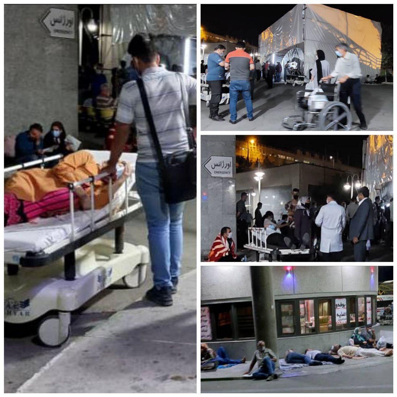 وضعیت وحشتناک بیماران کرونایی دیشب در بیمارستان میلاد تهران
