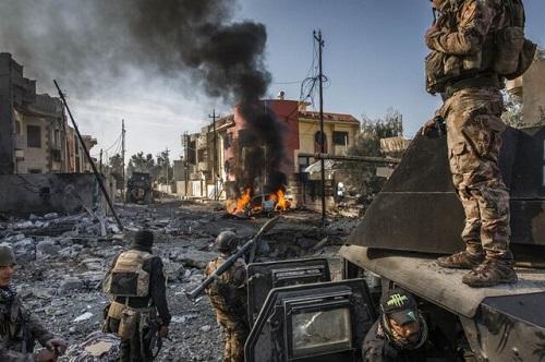 لحظه بازپسگیری شهر موصل از داعش